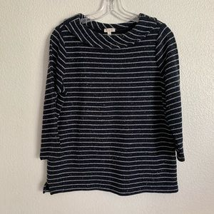 Talbots | Knit striped top colored sprinkled S